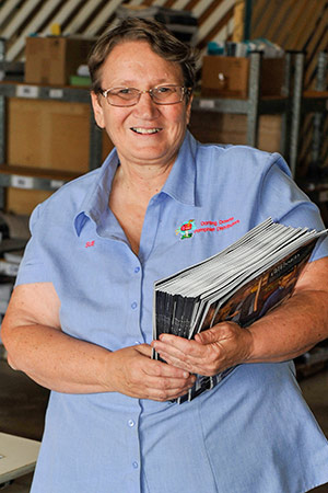 Sue McHarry of DDPD (Darling Downs Pamphlet Distributors)